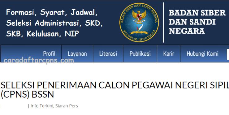 Pengumuman SKD CPNS BSSN 2021