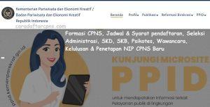 Jadwal Pendaftaran CPNS 2021 Kemenparekraf Lulusan SMA SMK D3 S1 S2