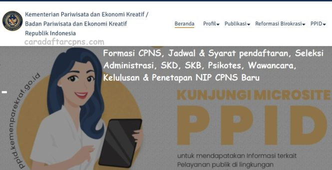 Jadwal dan syarat pendaftaran CPNS Kemenparekraf 2021