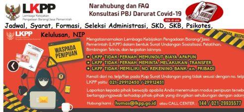 Pengumuman SKD CPNS LKPP 2021