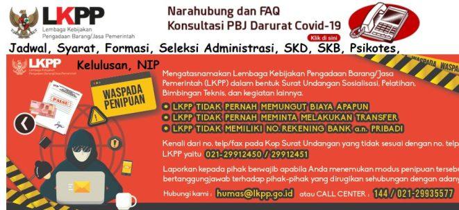 Hasil Seleksi Administrasi CPNS LKPP 2021