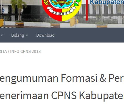 Pengumuman Hasil SKD CPNS KABUPATEN JEMBER 2021