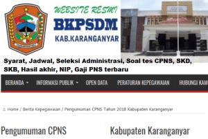 Jadwal Pendaftaran CPNS Kabupaten Karanganyar 2021 Lulusan SMA SMK D3 S1 S2