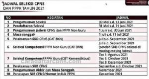 Detik-detik Pengumuman Jadwal Pendaftaran dan Formasi CPNS 2021