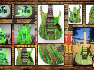 Ibanez Jem, Acid Washed Finish, Cara Guitars Refibnishing