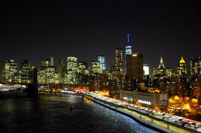 New-York - From Manhattan Bridge by Night - ©JCHERIX