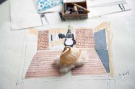 """Skizzen-Collage Modell """"Nest"""""""
