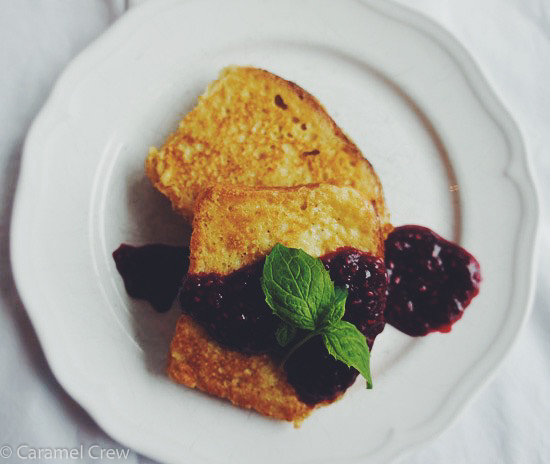 Buttery homemade brioche French toast with a simple raspberry mint compote - add maple syrup and you have a plateful of pure breakfast bliss.