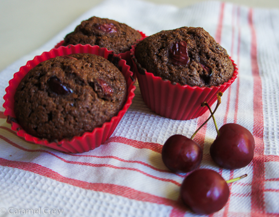 Velvety cream cheese, rich chocolate and fresh cherries baked into one perfectly decadent muffin. These cherry chocolate cream cheese muffins are so easy and completely irresistible!