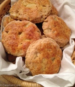Sweet, soft apple scones recipe, quick to make for breakfast and so tasty with the added maple flavor!