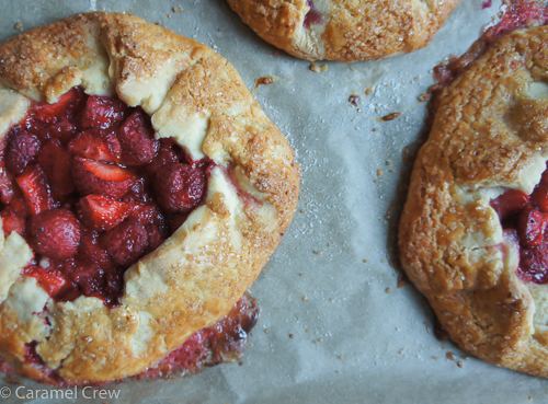 Easy recipe for cute mini galettes that work well with different fruit and berries. A quick, rustic dessert that is as fun to make as it is to eat.
