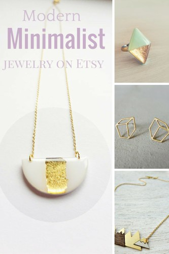 The best modern and minimalist jewelry designers on Etsy right now.