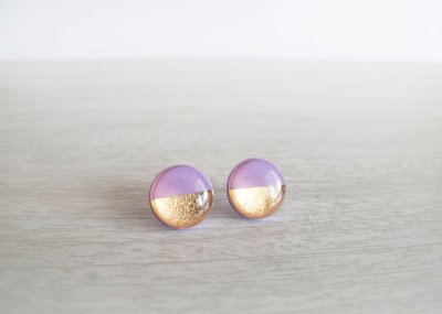 Gold foil detail jewelry by LamFaTiTa on Etsy