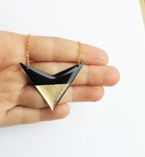 Upcycled vinyl records turned into modern jewelry by DanaJewellery on Etsy