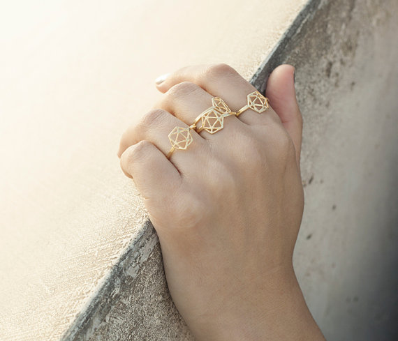 Modern minimalist jewelry design by Shlomit Ofir