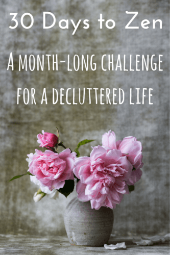 How to declutter your life - 30 days of doable tasks that will make your life simpler, more organized and happier. A fun 30-day challenge to reduce stress!