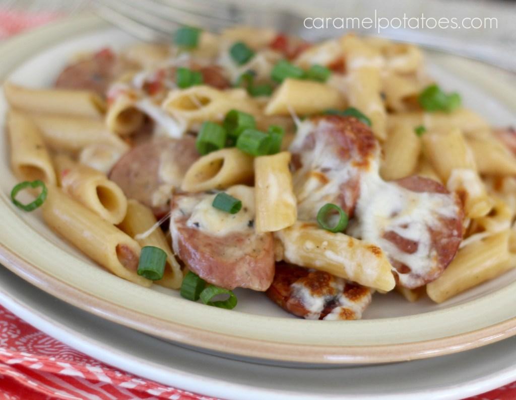 Spicy Pasta & Sausage Skillet