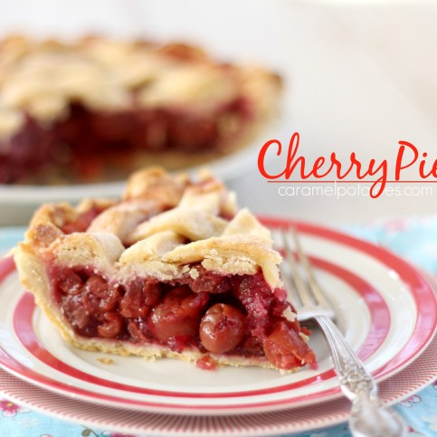 Homemade Cherry Pie - a true classic.  Perfect with a scoop of ice cream.