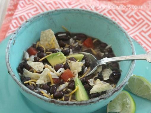 7 Minute Black Bean Soup