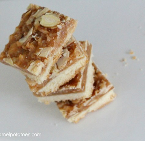 chewy toffee almond bar