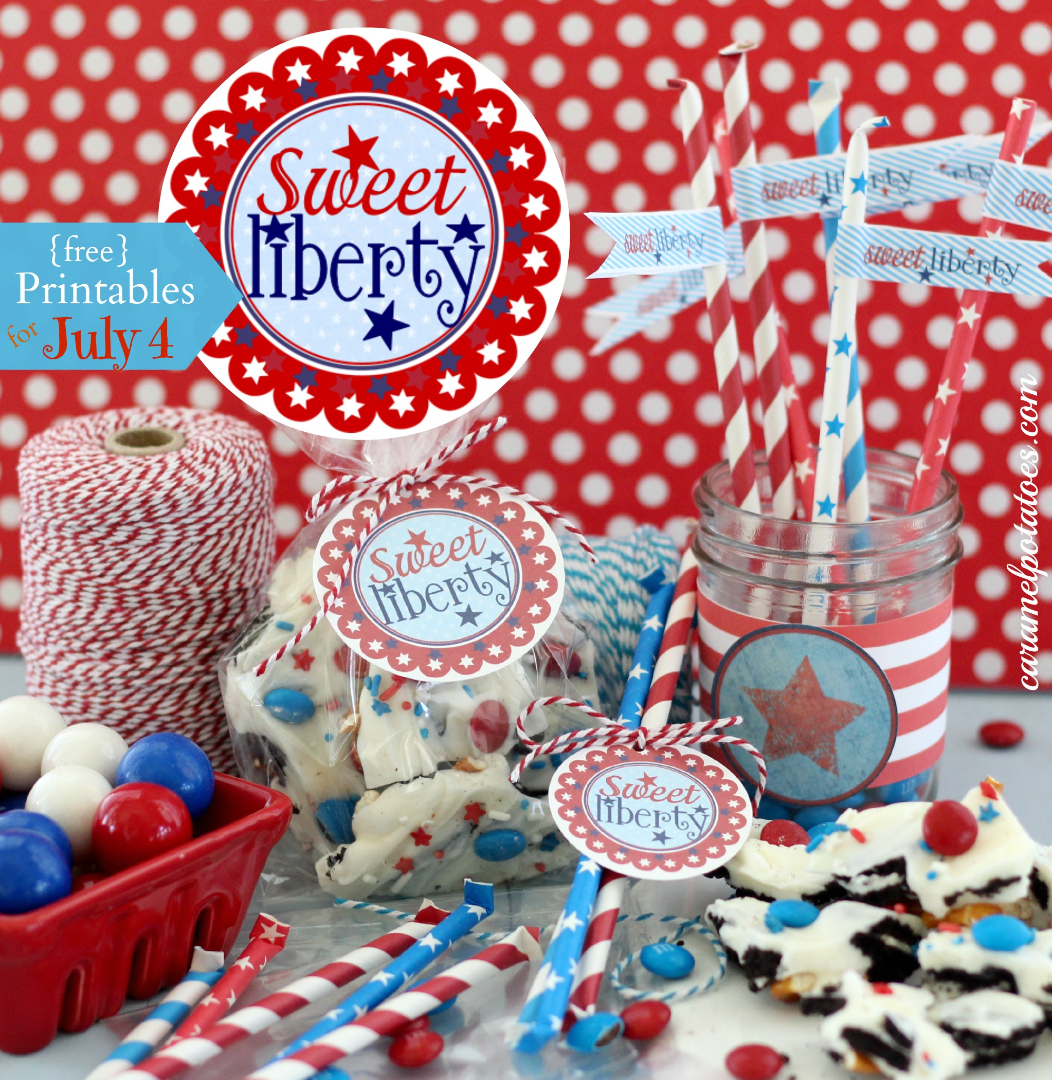 Caramel Potatoes » 4th of July {free} Printables: Stars and Stripes ...