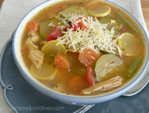 Guilt Free Italian Chicken & Vegetable Soup