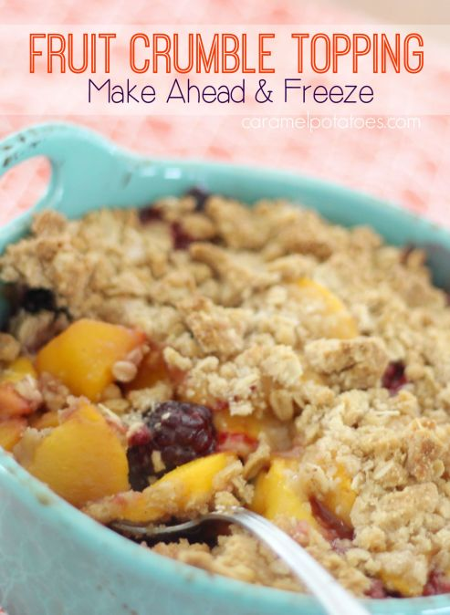 Fruit Crumble Topping 094