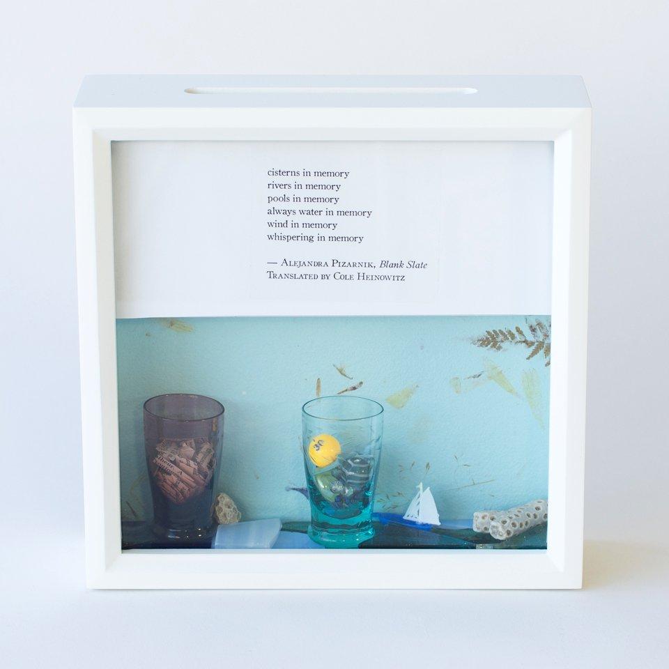 Tiny Writes Pizarnik Poetry Shadow Box