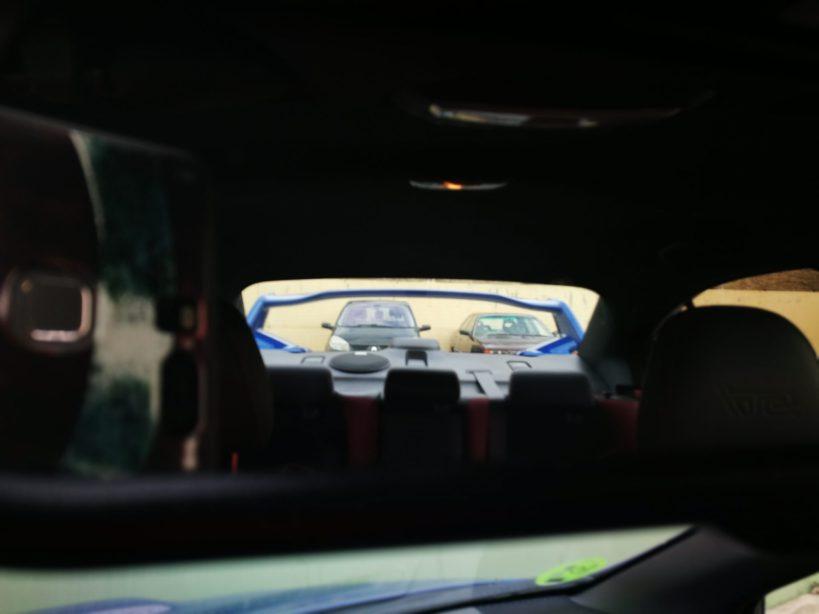 Vista retrovisor interior
