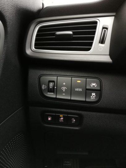 Ajustes del vehículo zona inferior izquierda