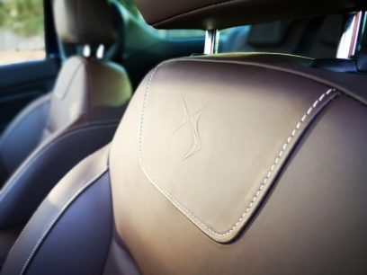 Detalle DS en asientos de cuero