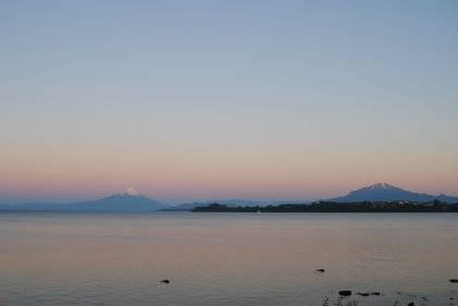 Chili - Puerto Varas - sunset volcan