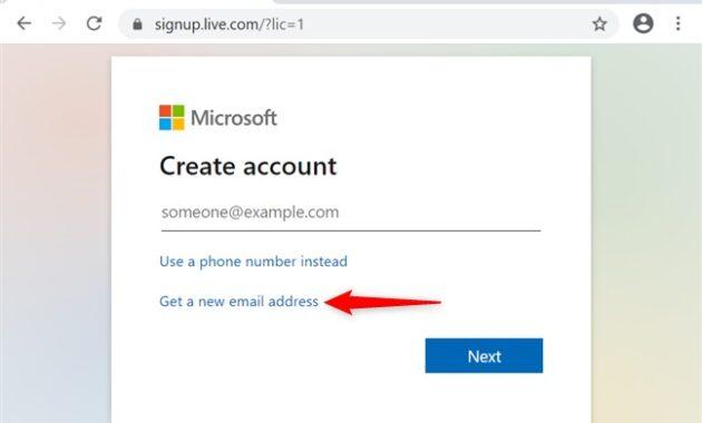 Cara Membuat akun Microsoft dan alamat email Outlook.com atau Hotmail.com