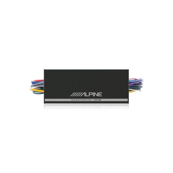 alpine car audio systems ktp445 head unit in line power amplifier 100watts