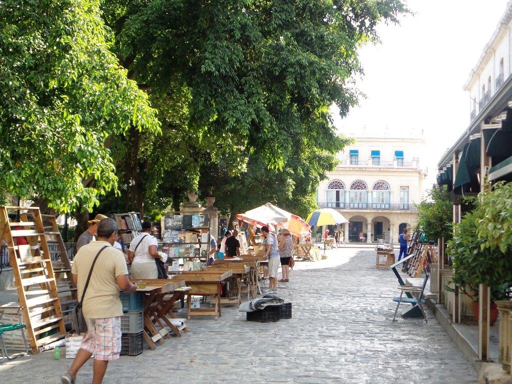 Antique Book Fair in Plaza De Armes