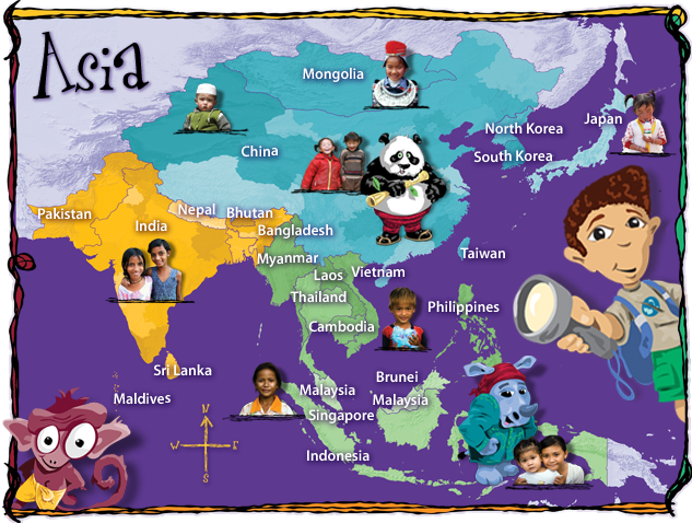 Asia Map Caravan Friends – Asia on the Map