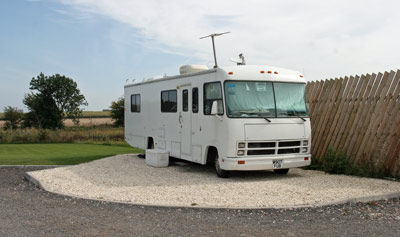 Pitches for larger motorhomes