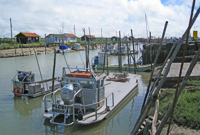 Oyster boats at Vendee