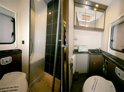 Elddis Aspire washroom