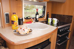 Swift Challenger 570 Kitchen Workspace