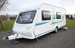 The Xplore Electric touring caravan