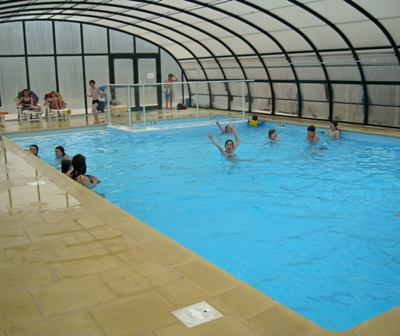 The indoor swimming pool keeps the kids happy whatever the weather