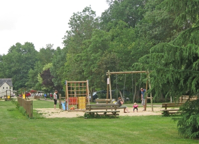 Plenty of open space and several play areas