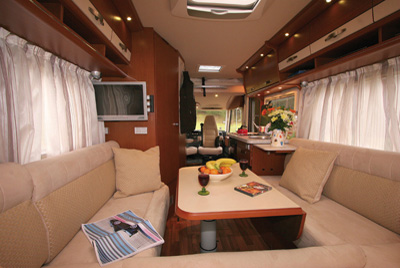 Hymer B534 Interior Looking Forward