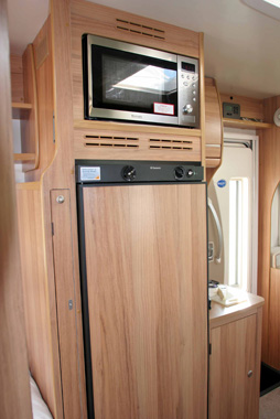 Bailey Approach 740 SE Motorhome fridge and microwave