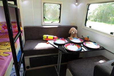 Stealth T58 Caravan kids zone