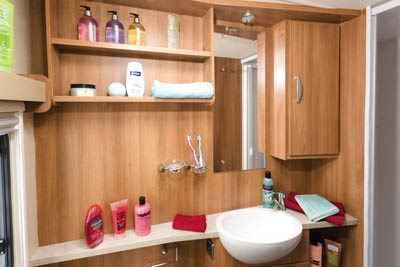 Caravan bathroom