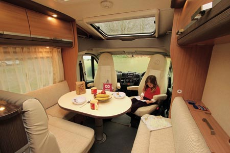 Knaus Sky TI 650 MF Lounge area and cab