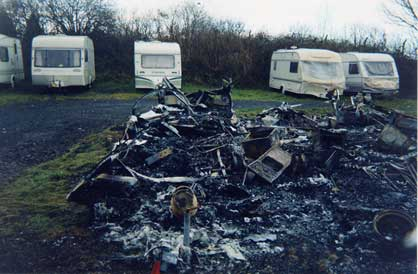 fire damaged tourer
