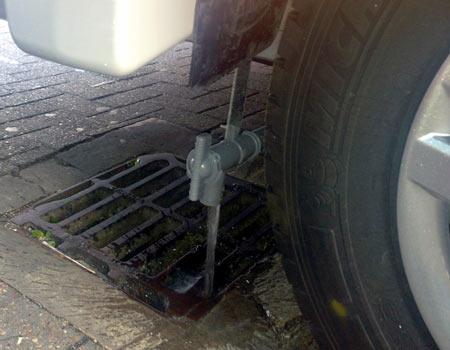Motorhome drainage tap